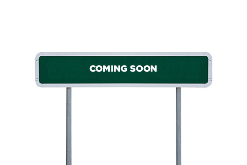 Streete And District Coming Soon Sign